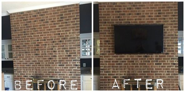 Kevin S Handy Man Services Virginia Beach Brick Fireplace Mounted